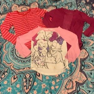 Toddler girls shirt bundle